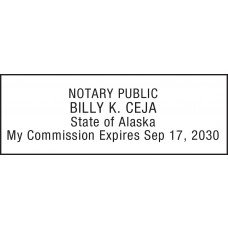 Notary Stamp for Alaska State