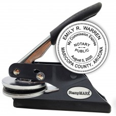 Notary Seal Embosser for Arizona State - Includes Gold Burst Seal Labels (42 count)