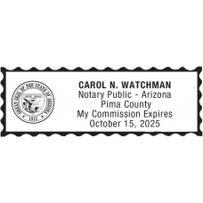 Notary Stamp for Arizona State