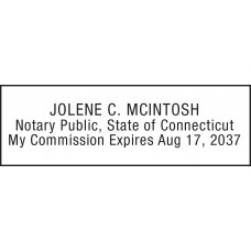Notary Stamp for Connecticut State