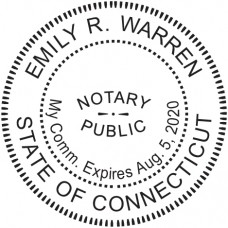 Notary Stamp for Connecticut State - Round