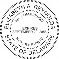 Notary Stamp for Delaware State - Round