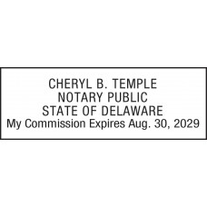 Notary Stamp for Delaware State