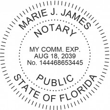 Notary Stamp for Florida State - Round
