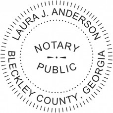 Notary Stamp for Georgia State - Round