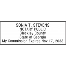 Notary Stamp for Georgia State