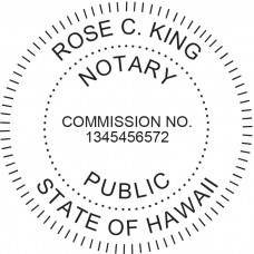 Notary Stamp for Hawaii State - Round