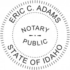 Notary Stamp for Idaho State - Round