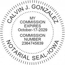 Notary Stamp for Iowa State - Round