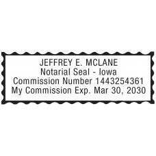 Notary Stamp for Iowa State