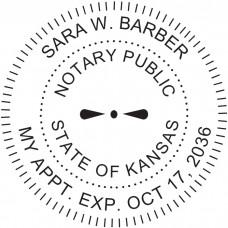 Notary Stamp for Kansas State - Round