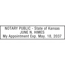 Notary Stamp for Kansas State