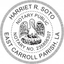 Notary Stamp for Louisiana State - Round