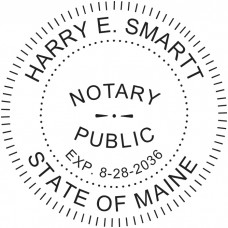 Notary Stamp for Maine State - Round