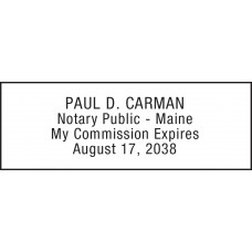 Notary Stamp for Maine State