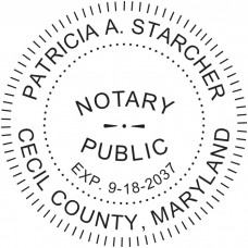 Notary Stamp for Maryland State - Round