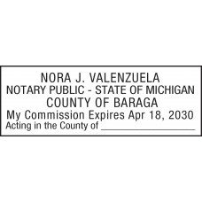Notary Stamp for Michigan State