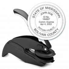 Notary Seal Round Embosser for Mississippi State - Includes Gold Burst Seal Labels (42 count)