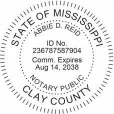 Notary Stamp for Mississippi State - Round
