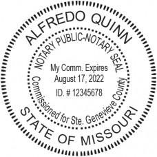 Notary Stamp for Missouri State - Round1