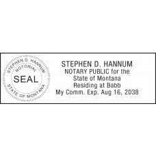 Notary Stamp for Montana State 1