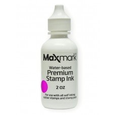 MaxMark Premium Refill Ink for self inking stamps and stamp pads, Pink Color - 2 oz.