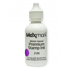 MaxMark Premium Refill Ink for self inking stamps and stamp pads, Purple Color - 2 oz.