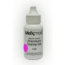 MaxMark Premium Refill Ink for self inking stamps and stamp pads, Pink Color - 1 oz.