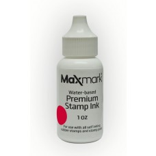 MaxMark Premium Refill Ink for self inking stamps and stamp pads, Red Color - 1 oz.