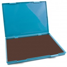 "Extra Large BROWN Ink Stamp Pad - 8.25"" x 11.5"" - Industrial Felt Pad"