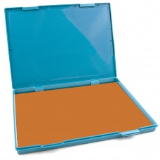 "Extra Large ORANGE Ink Stamp Pad - 8.25"" x 11.5"" - Industrial Felt Pad"