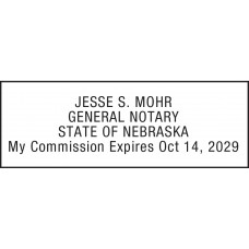Notary Stamp for Nebraska State