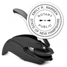Notary Seal Round Embosser for New Hampshire State - Includes Gold Burst Seal Labels (42 count)
