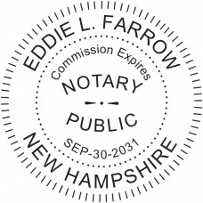 Notary Stamp for New Hampshire State - Round