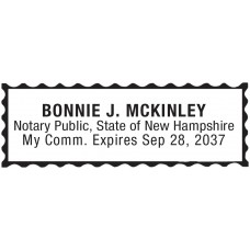 Notary Stamp for New Hampshire State