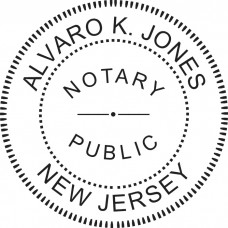 Notary Stamp for New Jersey State - Round