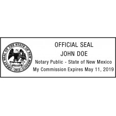 Notary Stamp for New Mexico State
