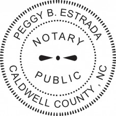Notary Stamp for North Carolina State - Round1