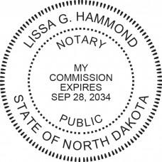 Notary Stamp for North Dakota State - Round