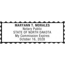 Notary Stamp for North Dakota State