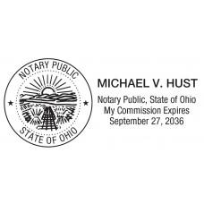 Notary Stamp for Ohio State rectangular