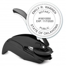Notary Seal Round Embosser for Oklahoma State - Includes Gold Burst Seal Labels (42 count)