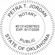 Notary Stamp for Oklahoma State - Round