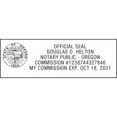 Notary Stamp for Oregon State 1