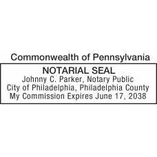 Notary Stamp for Pennsylvania State
