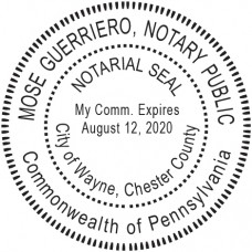 Notary Stamp for Pennsylvania State - Round
