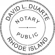 Notary Stamp for Rhode Island State - Round