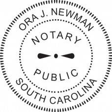 Notary Stamp for South Carolina State - Round