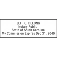 Notary Stamp for South Carolina State