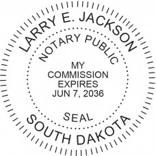 Notary Stamp for South Dakota State - Round